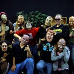 Faustwork Mask Theatre in Arizona High School students masked during workshop